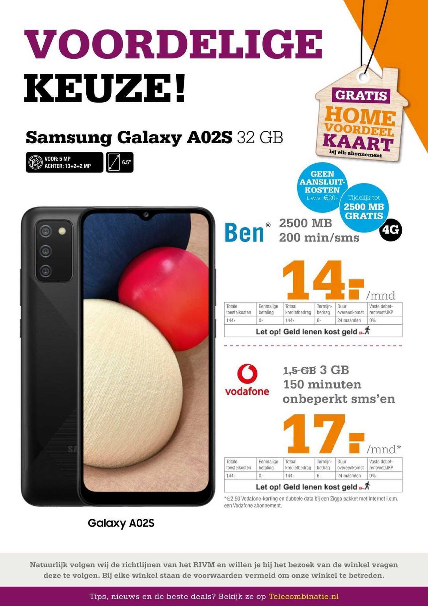 Telecombinatie Samsung Galaxy A02S 32 GB
