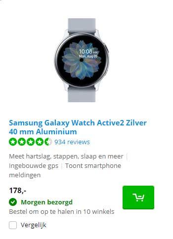 Coolblue Samsung Galaxy Watch Active2 Zilver 40 Mm Aluminium