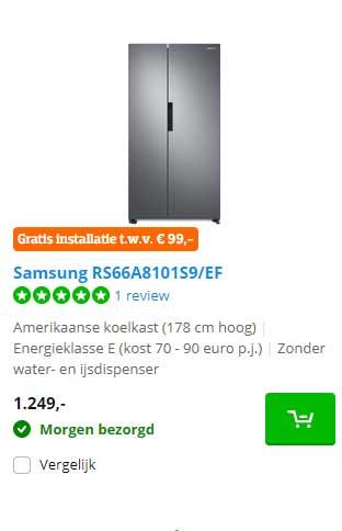 Coolblue Samsung RS66A8101S9-EF Amerikaanse Koelkast