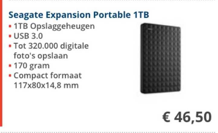 Informatique Seagate Expansion Portable 1TB