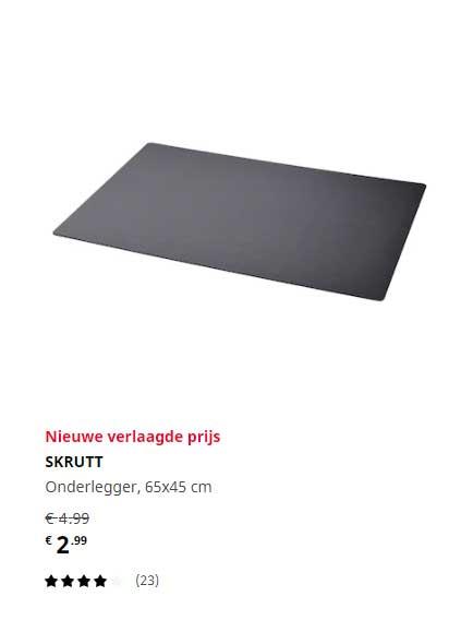 IKEA Skrutt Onderlegger 65x45 Cm