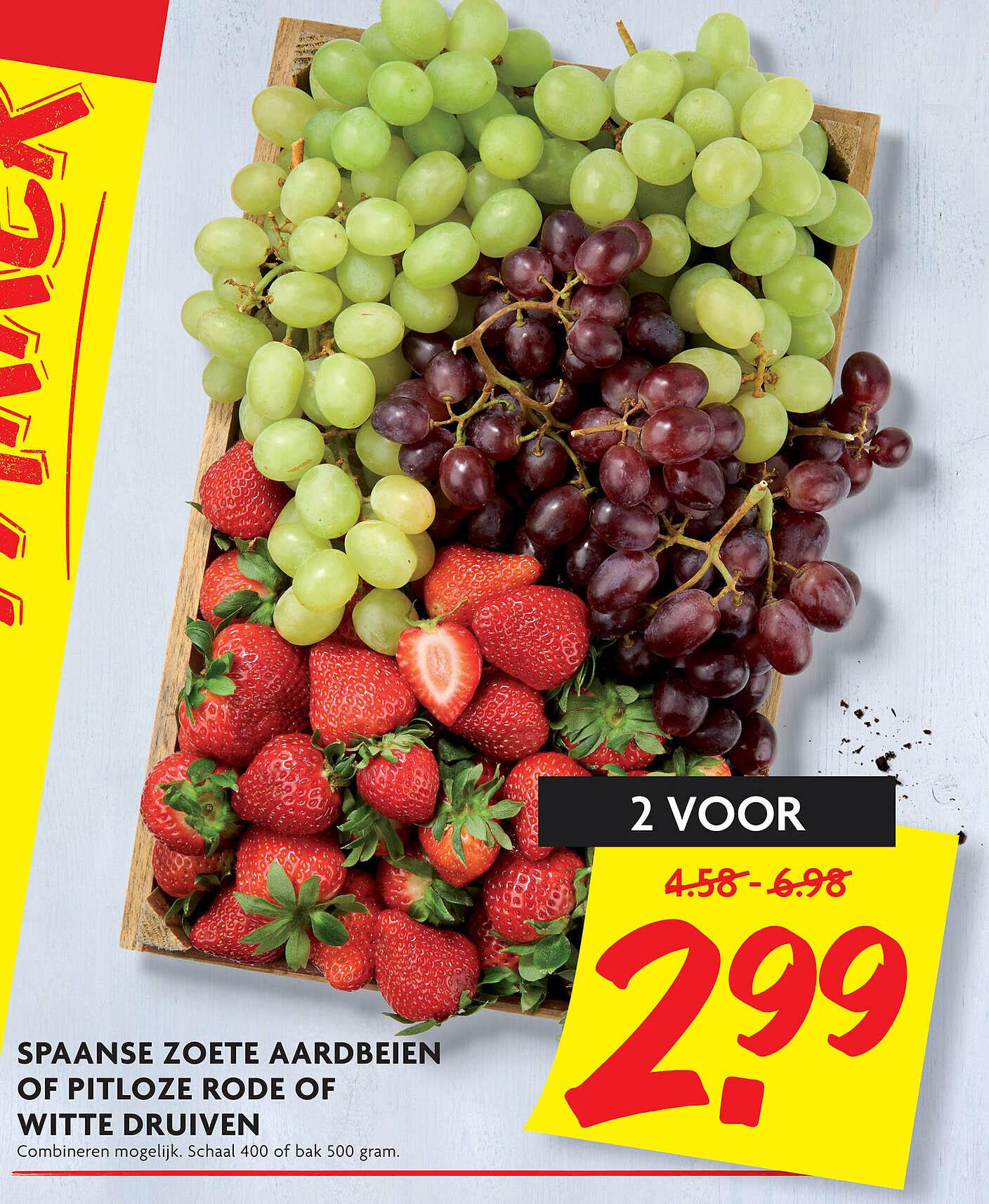 DekaMarkt Spaanse Zoete Aardeien Of Pitloze Rode Of Witte Druiven