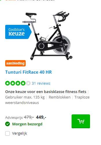 Coolblue Tunturi FitRace 40 HR