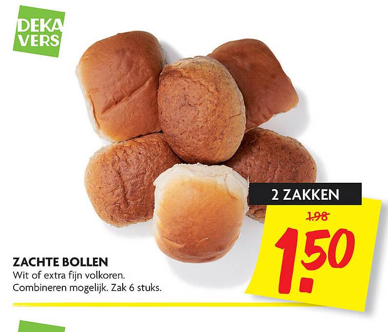 DekaMarkt Zachte Bollen Wit Of Extra Fijn Volkoren