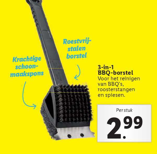 Lidl 3-in-1 BBQ-Borstel