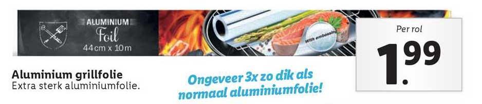Lidl Aluminium Grillfolie