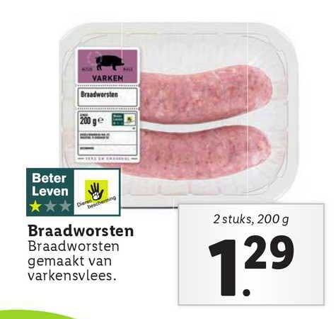 Lidl Braadworsten