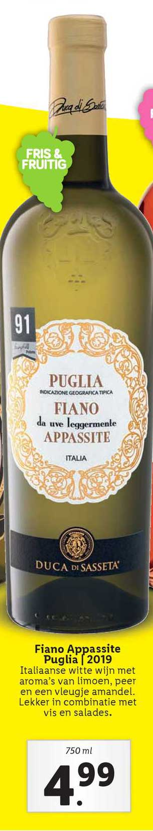 Lidl Fiano Appassite Puglia | 2019
