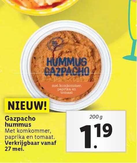 Lidl Gazpacho Hummus