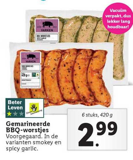 Lidl Gemarineerde BBQ-Worstjes