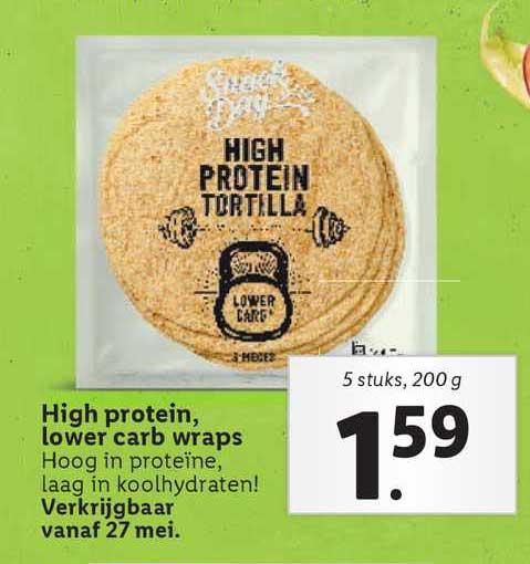 Lidl High Protein, Lower Carb Wraps