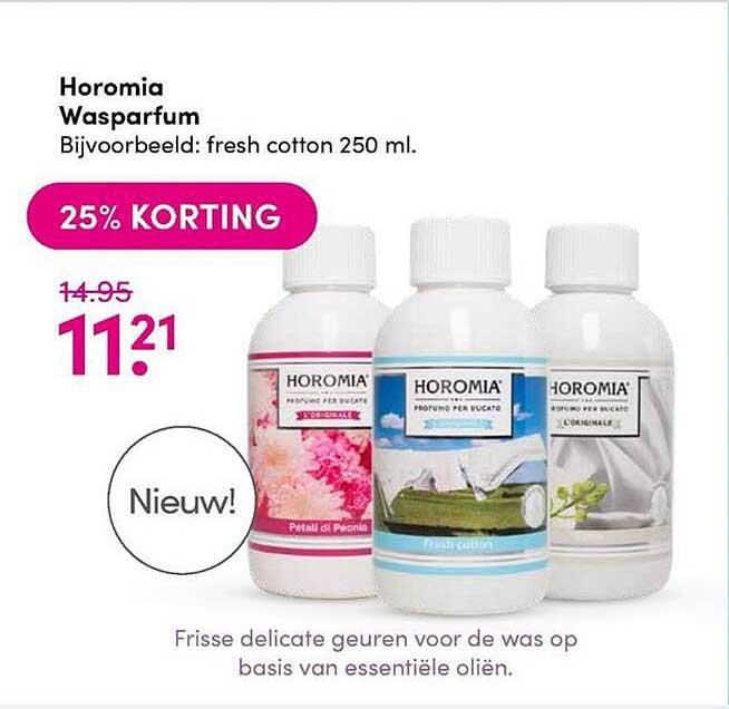 DA Horomia Wasparfum 25% Korting