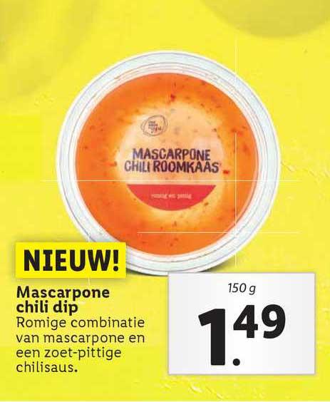 Lidl Mascarpone Chili Dip