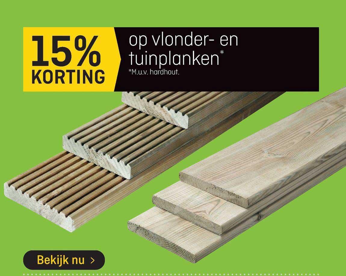 Hubo Op Vlonder- En Tuinplanken 15% Korting
