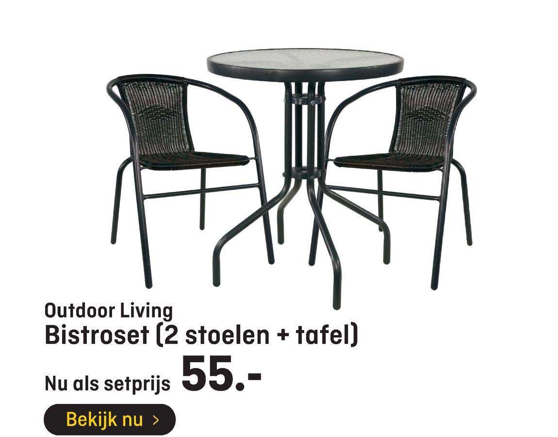 Hubo Outdoor Living Bistroset (2 Stoelen + Tafel)