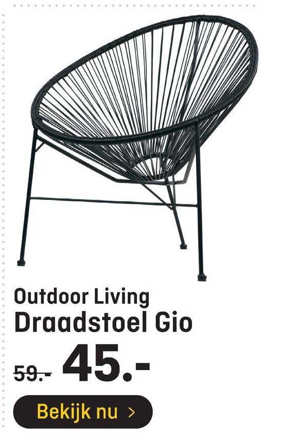 Hubo Outdoor Living Draadstoel Gio