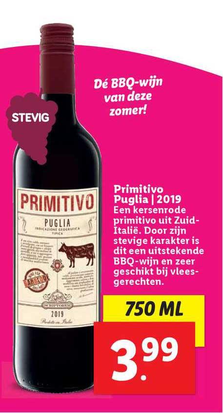 Lidl Primitivo Puglia | 2019