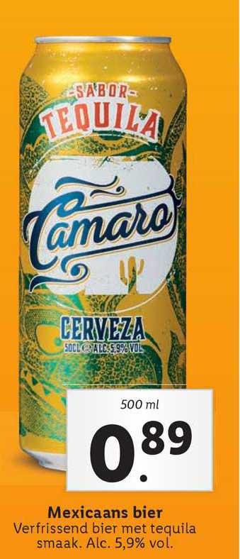 Lidl Sabor Tequila Camaro Cerveza Mexicaans Bier