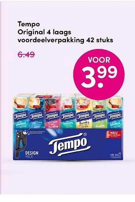 DA Tempo Original 4 Laags Voordeelverpakking 42 Stuks