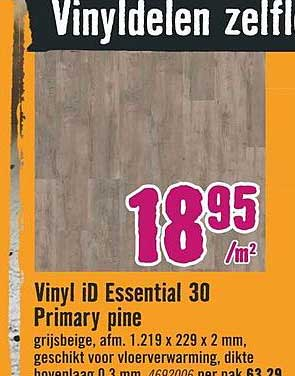 Hornbach Vinyl ID Essential 30 Primary Pine