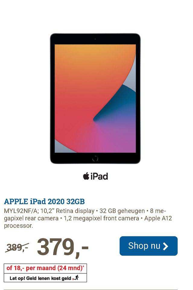 BCC Apple IPad 2020 32GB MYL92NF-A