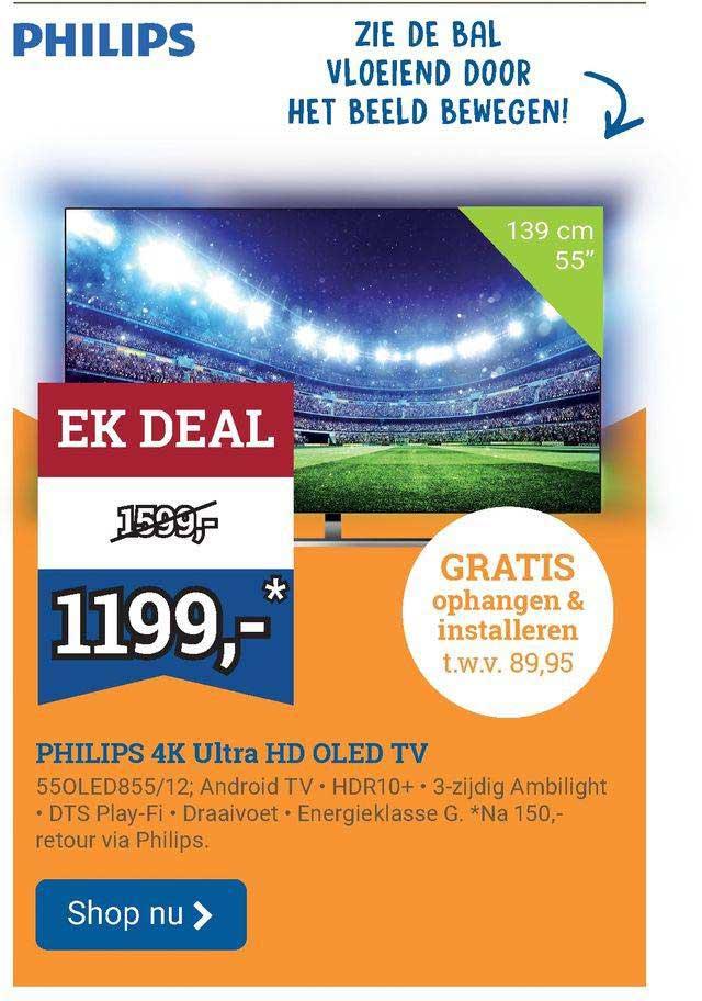 BCC Philips 4K Ultra HD OLED TV 55OLED855-12