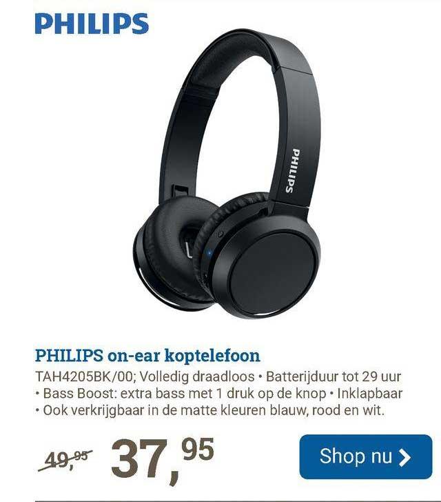 BCC Philips On-Ear Koptelefoon TAH4205BK-00