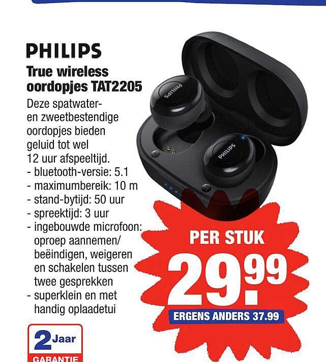 ALDI Philips True Wireless Oordopjes TAT2205