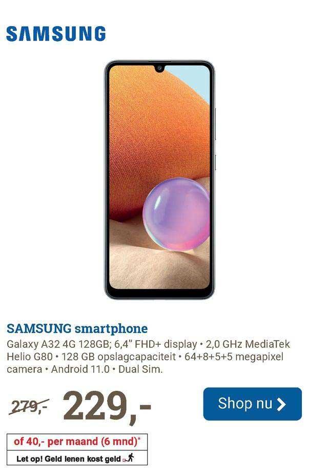 BCC Samsung Smartphone Galaxy A32 4G 128GB
