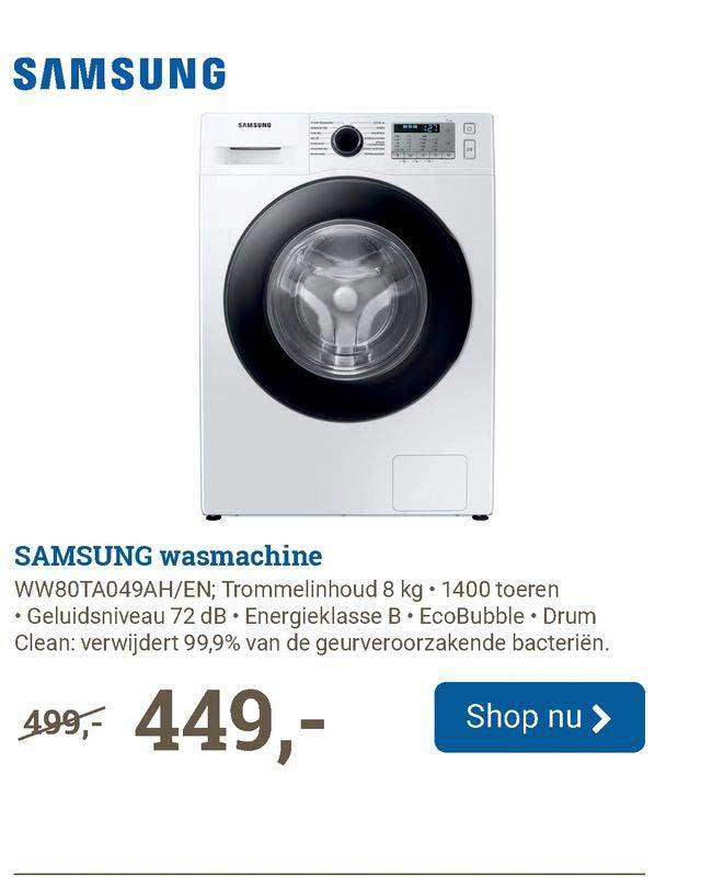 BCC Samsung Wasmachine WW80TA049AH-EN