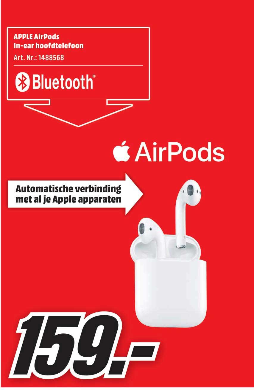 apple airpods in ear hoofdtelefoon aanbieding bij mediamarkt. Black Bedroom Furniture Sets. Home Design Ideas