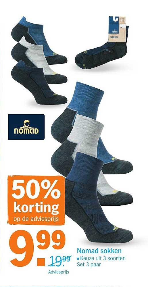 Albert Heijn Nomad Sokken: 50% Korting