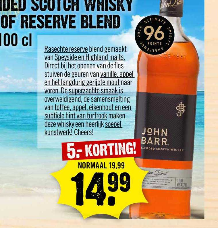 Dirck III John Barr Blended Scotch Whisky Reserve Blend