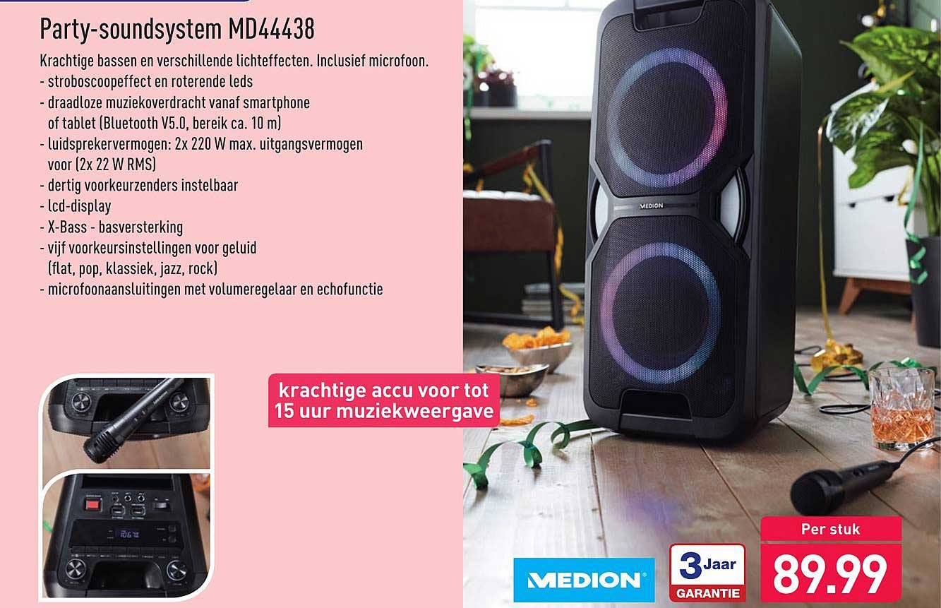Aldi Party-Soundsystem MD44438