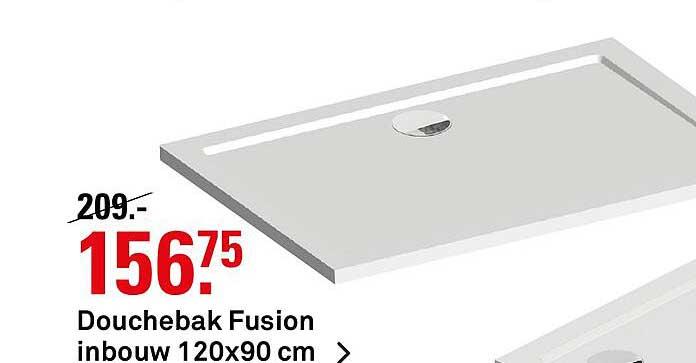 Karwei Douchebak Fusion Inbouw 120x90 Cm