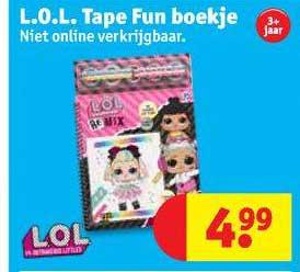 Kruidvat L.O.L. Tape Fun Boekje