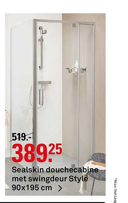 Karwei Sealskin Douchecabine Met Swingdeur Style 90x195 Cm