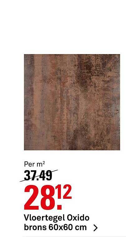 Karwei Vloertegel Oxido Brons 60x60 Cm