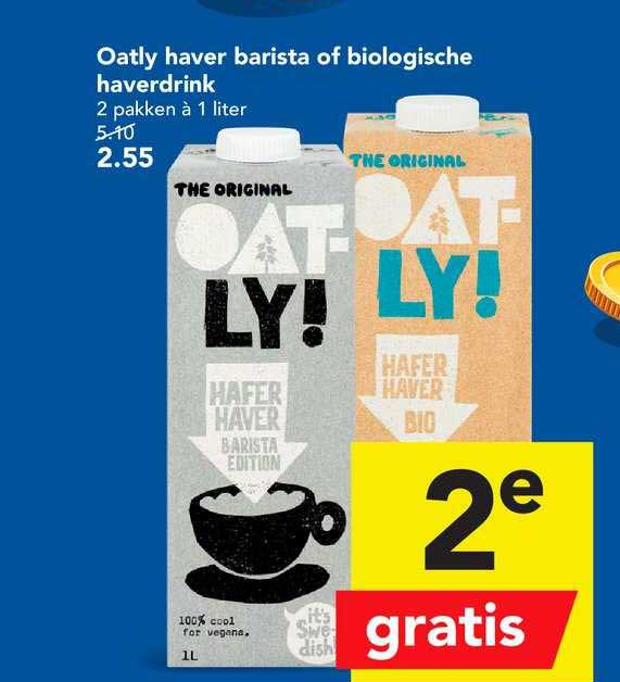 DEEN Oatly Haver Barista Of Biologische Haverdrink