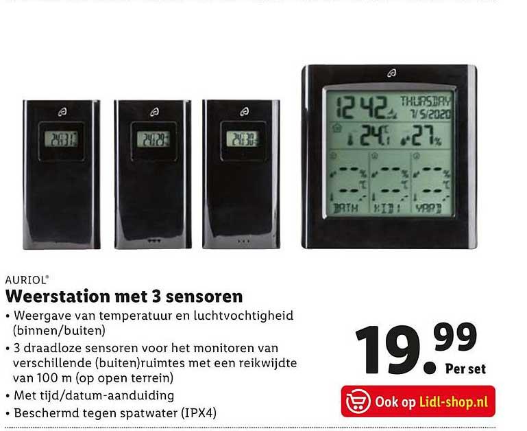 Lidl Auriol Weerstation Met 3 Sensoren