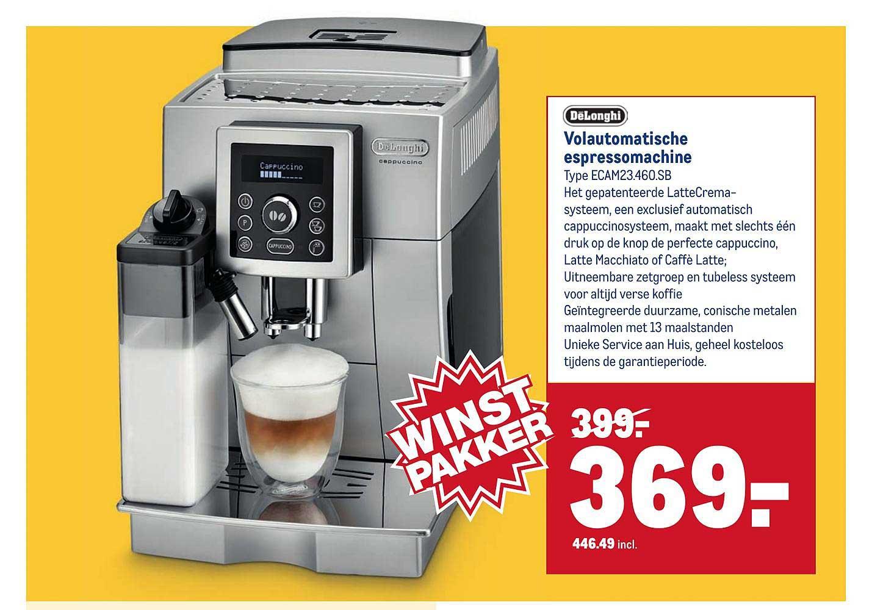 Makro DeLonghi Volautomatische Espressomachine Type ECAM23.460.SB