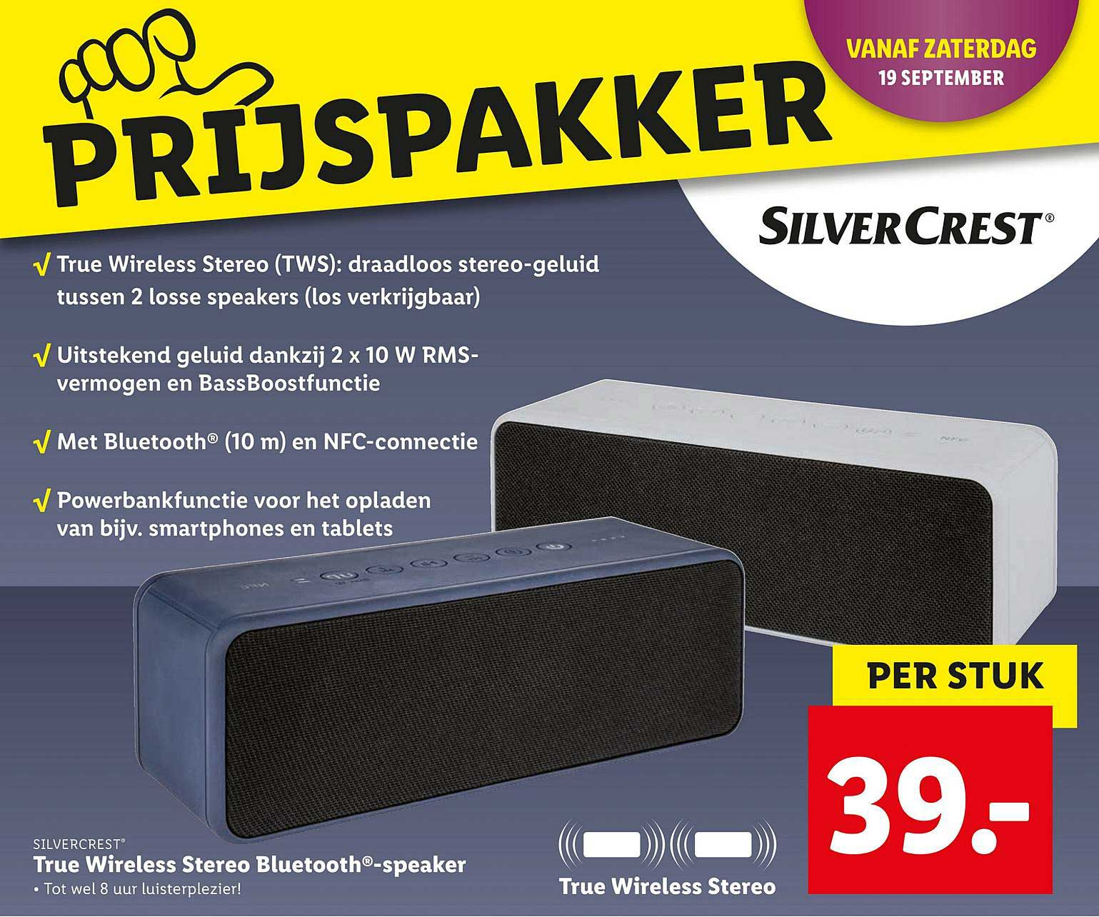 Lidl Silvercrest True Wireless Stereo Bluetooth Speaker