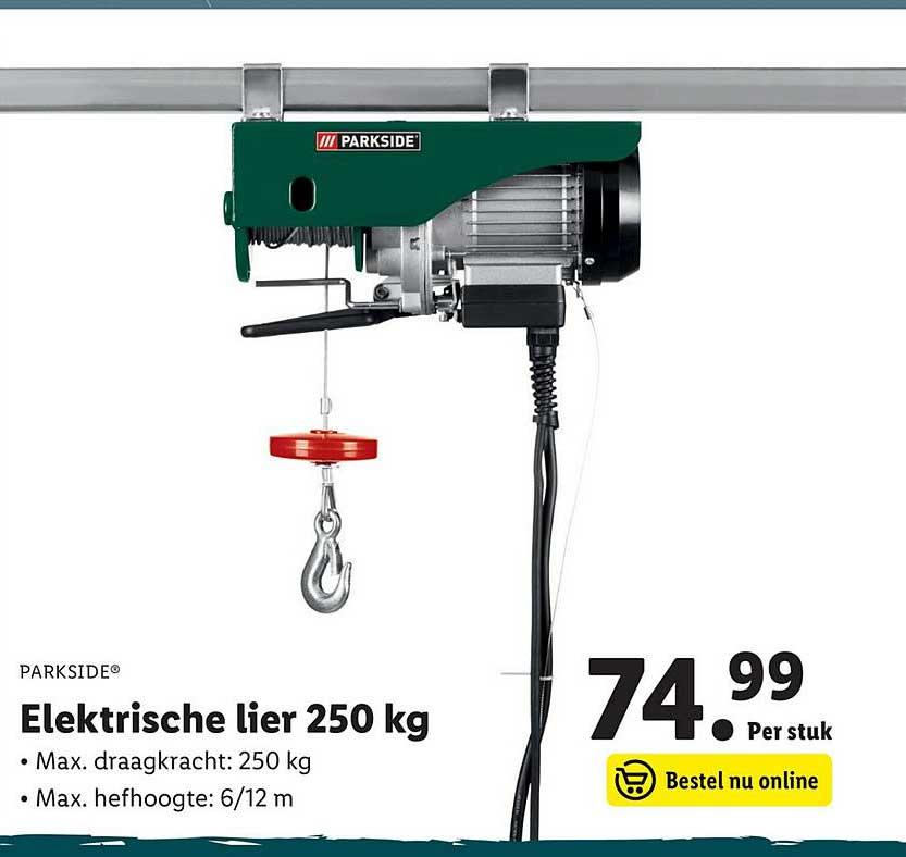 Lidl Shop Parkside Elektrische Lier 250 Kg
