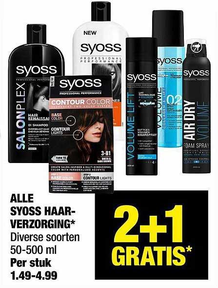 Big Bazar Alle Syoss Haarverzorging 2+1 Gratis
