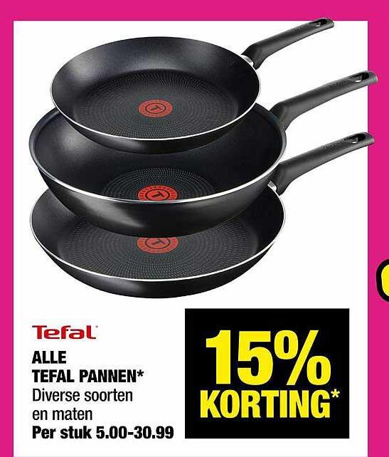 Big Bazar Alle Tefal Pannen 15% Korting