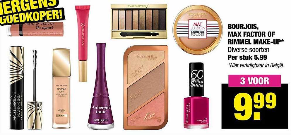Big Bazar Bourjois, Max Factor Of Rimmel Make-Up