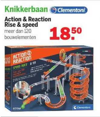 Van Cranenbroek Clementoni Knikkerbaan Action & Reaction Rise & Speed