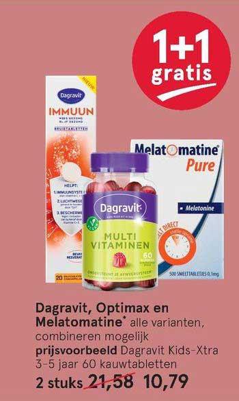 Etos Dagravit, Optimax En Melatomatine 1+1 Gratis
