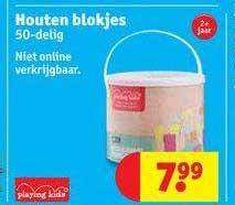Kruidvat Houten Blokjes 50-Delig