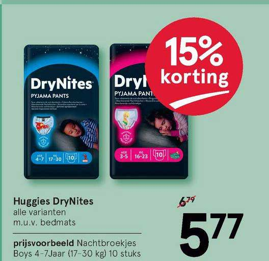 Etos Huggies DryNites Nachtbroekjes 15% Korting